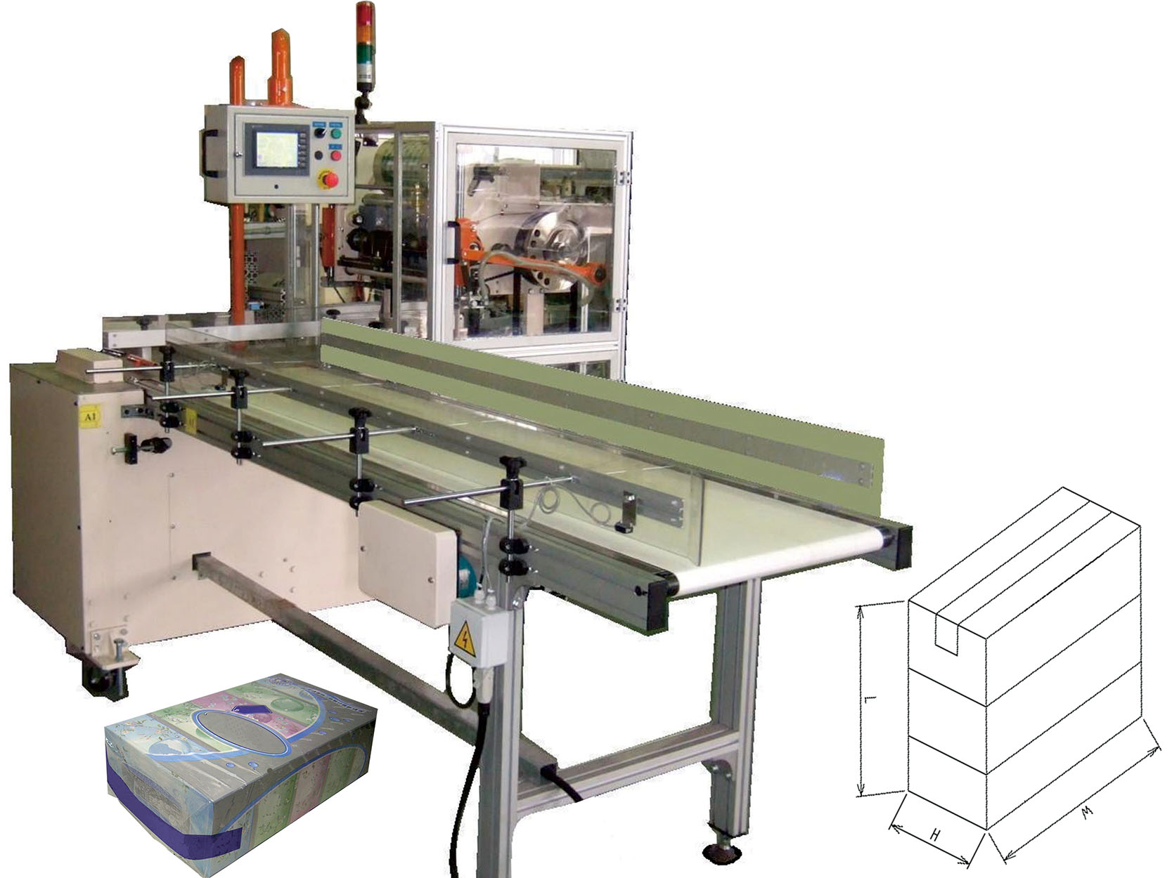 C6.Automatic carry handle machine for tissue paper boxes