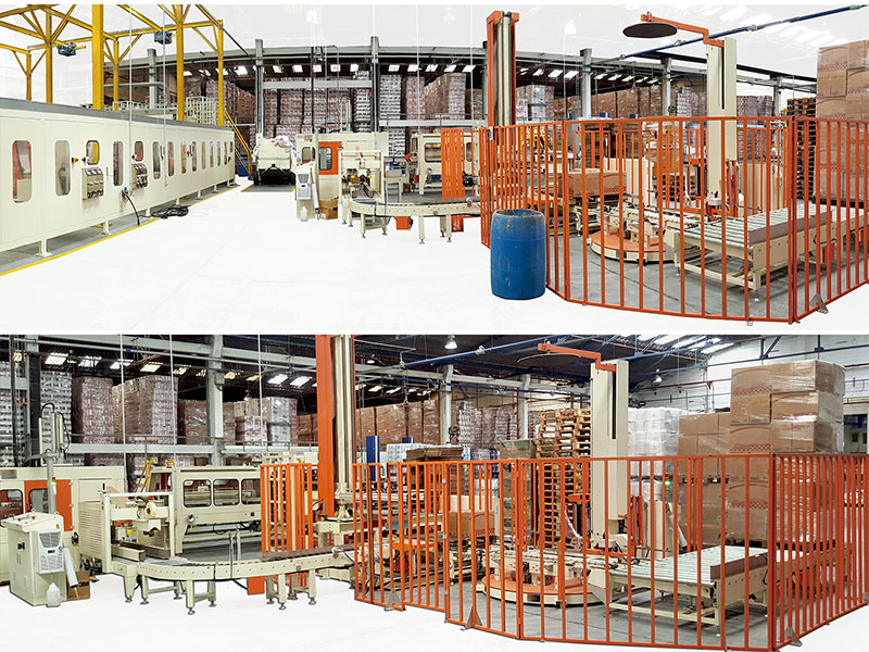C14.Pallet structure line for packets/ case packer system  (Carton)/ Pallet
