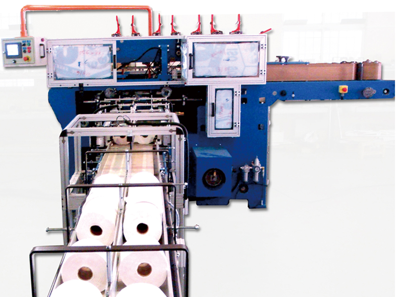 C5. Automatic wrapping machine for Toilet paper / Kitchen Towel and Maxi roll
